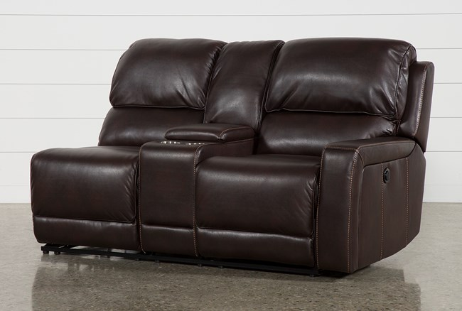Declan Right Facing Power Reclining Loveseat With Console - 360