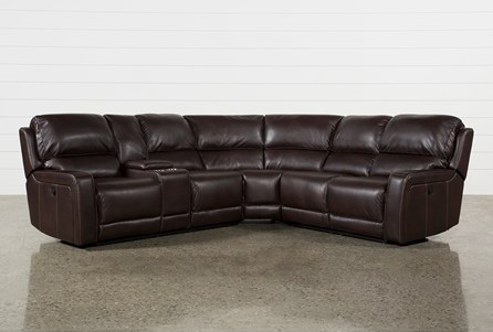 Declan 3 Piece Power Reclining Sectional With Left Facing Console Loveseat