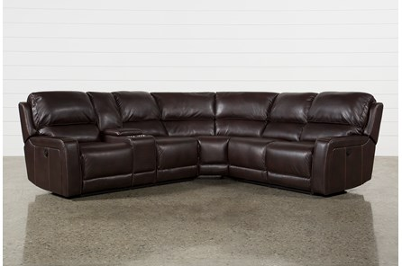 Declan 3 Piece Reclining Sectional With Left Facing Console Loveseat