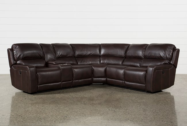 Declan 3 Piece Power Reclining Sectional With Left Facing Console Loveseat - 360