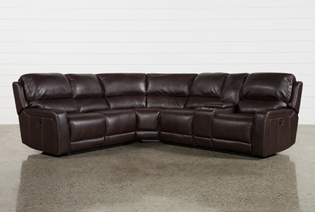 KIT-DECLAN 3 PIECE POWER RECLINING SECTIONAL WITH RAF CONSOLE LOVESEAT