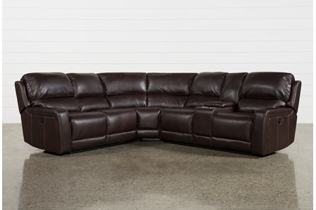 Declan 3 Piece Power Reclining Sectional With Raf Console Loveseat