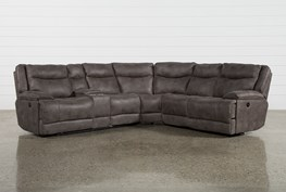 Taron 3 Piece Power Reclining Sectional With Left Facing Console Loveseat