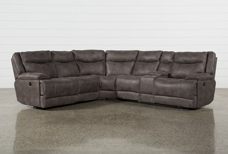 Taron 3 Piece Power Reclining Sectional With Right Facing Console Loveseat