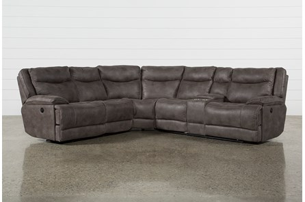 Taron 3 Piece Reclining Sectional With Right Facing Console Loveseat Clearance