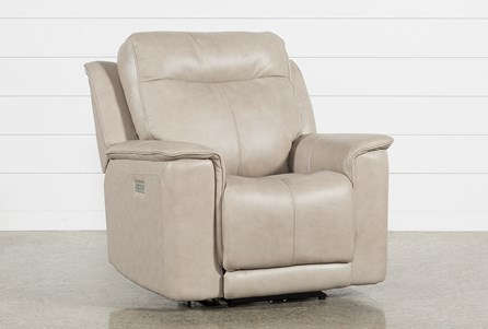 Walsh Dove Power Recliner W/Power Headrest, Lumbar & Usb