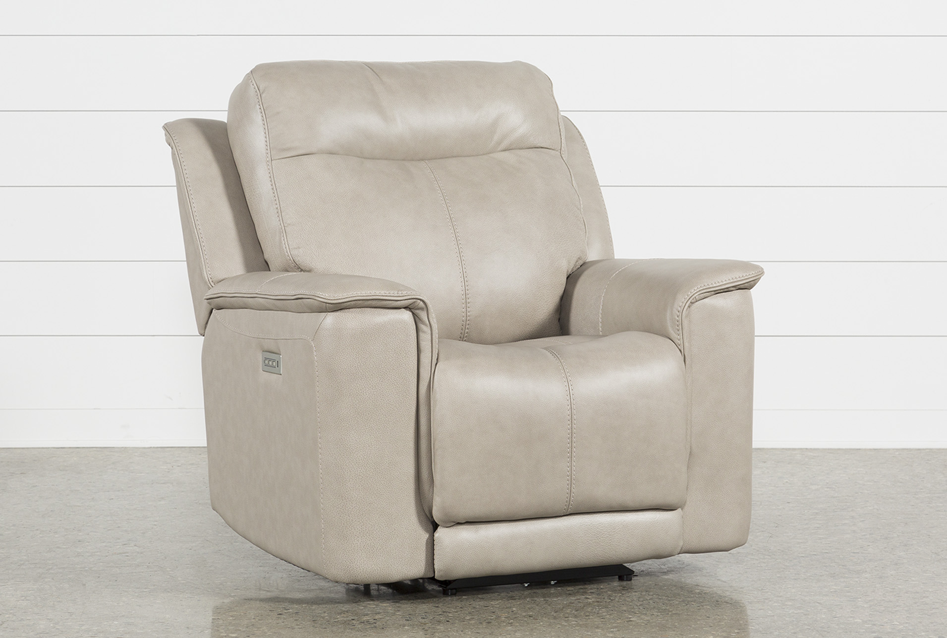 Merveilleux Walsh Dove Power Recliner W/Power Headrest, Lumbar U0026 Usb