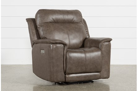 Walsh Mink Power Recliner W/Power Headrest, Lumbar & Usb