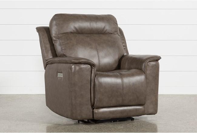 Walsh Mink Power Recliner W/Power Headrest, Lumbar & Usb - 360