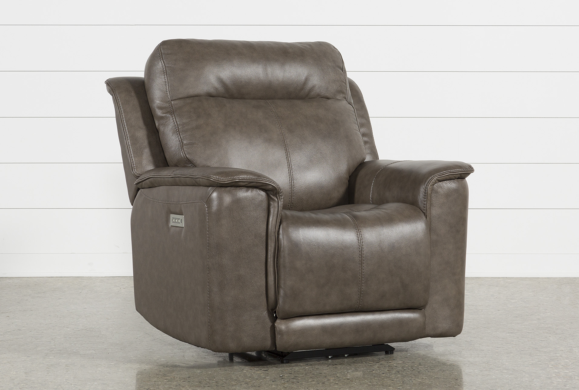 Walsh Mink Power Recliner W/Power Headrest, Lumbar U0026 Usb