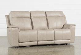 Walsh Dove Power Reclining Sofa W/Power Headrest, Lumbar & Usb