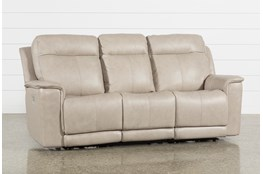 Walsh Dove Power Reclining Sofa W/Power Headrest, Lumbar & Usb