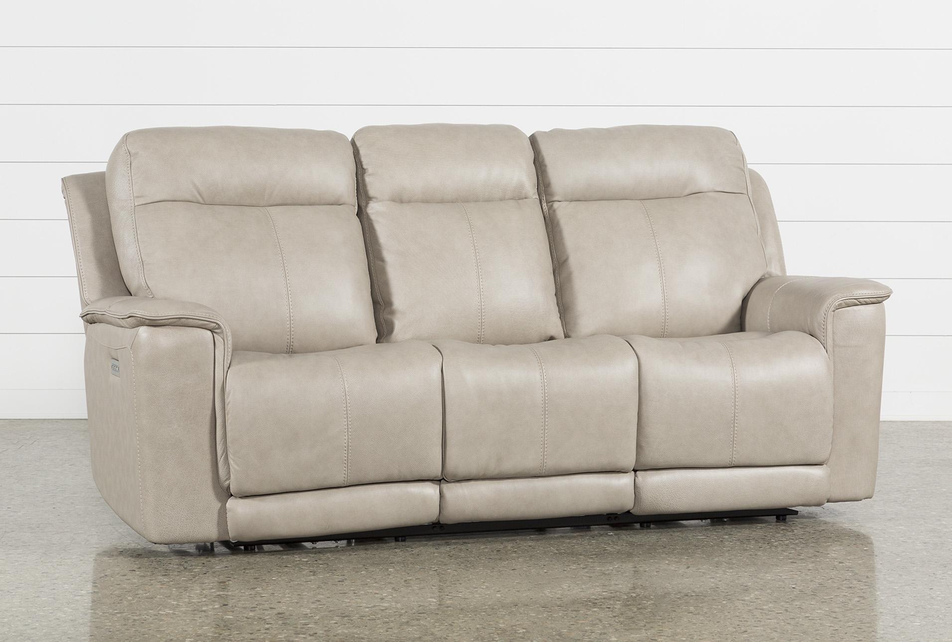 Walsh Dove Power Reclining Sofa W/Power Headrest, Lumbar U0026 Usb
