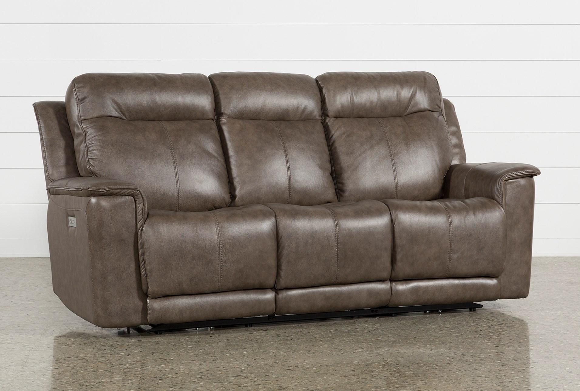 Walsh Mink Power Reclining Sofa W/Power Headrest, Lumbar & Usb