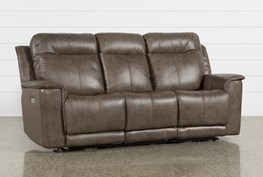 Walsh Mink Power Reclining Sofa W/Power Headrest, Lumbar & Usb