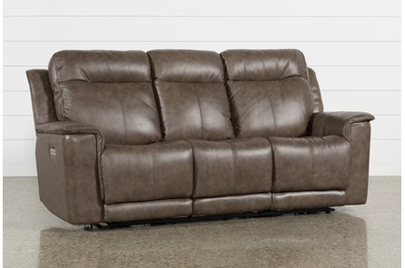 Walsh Mink Power Reclining Sofa W/Power Headrest, Lumbar & Usb - Main