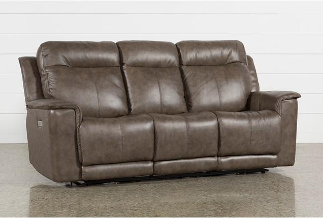 Walsh Mink Power Reclining Sofa W/Power Headrest, Lumbar & Usb - 360