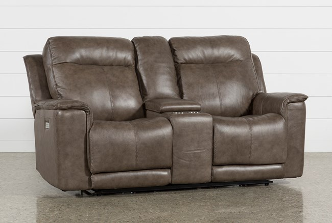 Walsh Mink Power Reclining Console Loveseat - 360