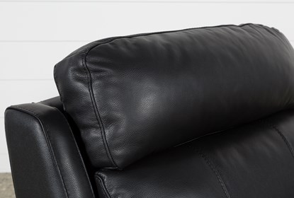 Dino Black Leather Recliner W