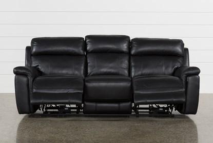 Cool Dino Black Leather Power Reclining Sofa W Power Headrest Usb Machost Co Dining Chair Design Ideas Machostcouk
