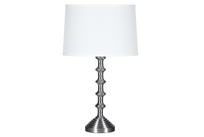 Table Lamp-Brushed Steel Column - 360