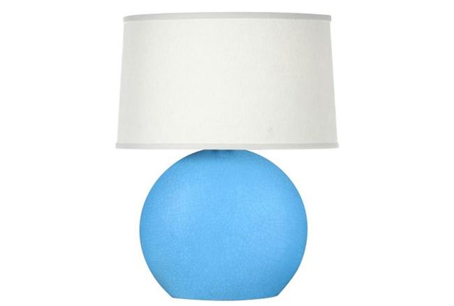 Table Lamp-Matte Blue Crackle - 360