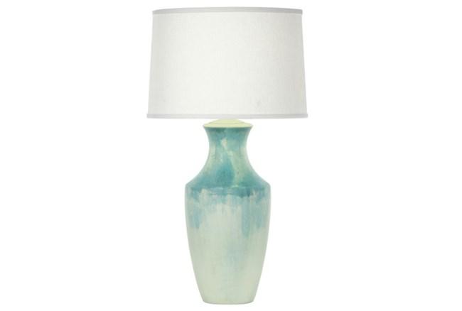 Table Lamp-Ocean Blue Swirl - 360
