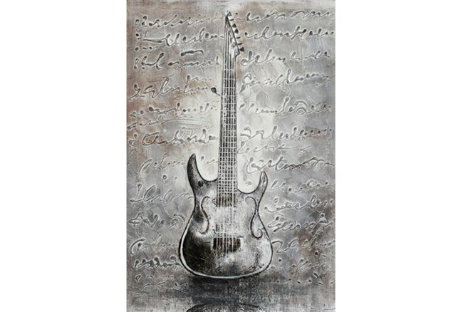 Picture-Silver Guitar 24X36 - 360