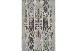 24X36 Rug-Wool Ikat Drip Grey & Brown