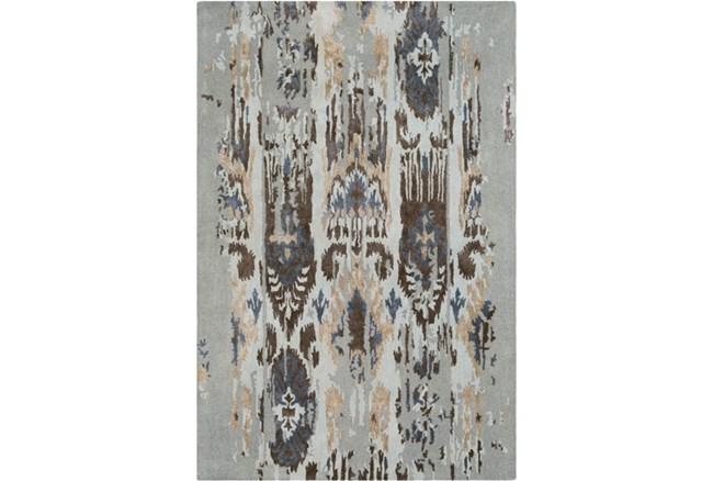 24X36 Rug-Wool Ikat Drip Grey & Brown - 360
