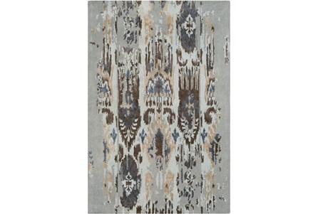 60X96 Rug-Wool Ikat Drip Grey & Brown