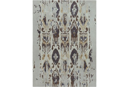 108X156 Rug-Wool Ikat Drip Grey & Brown