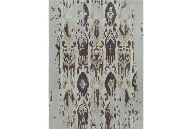 108X156 Rug-Wool Ikat Drip Grey & Brown - 360