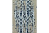 108X156 Rug-Wool Ikat Drip Grey & Blue - Signature