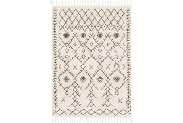 2'x3' Rug-Native Tassel Shag Charcoal & Beige
