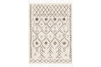 47X67 Rug-Native Tassel Shag Charcoal & Beige