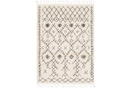 110X144 Rug-Native Tassel Shag Charcoal & Beige
