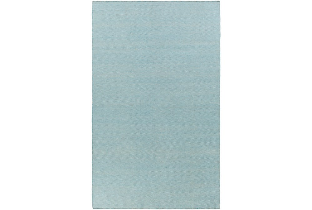 60X90 Outdoor Rug-Recycled Pet Herringbone Blue