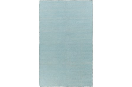 60X90 Outdoor Rug-Recycled Pet Herringbone Blue - Main