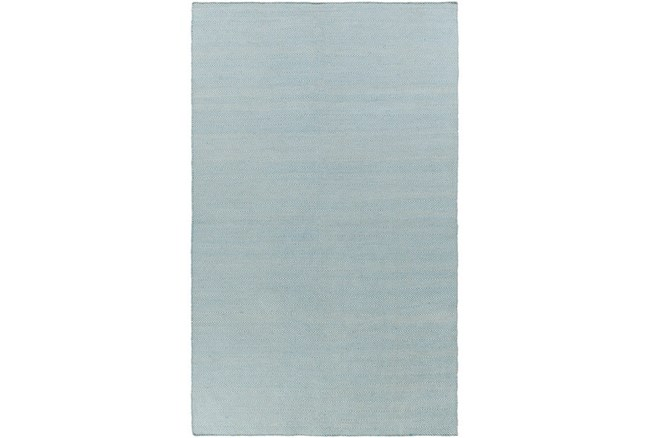 24X36 Outdoor Rug-Recycled Pet Herringbone Blue - 360