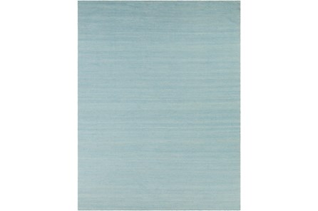 96X120 Outdoor Rug-Recycled Pet Herringbone Blue - Main