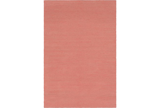 24X36 Outdoor Rug-Recycled Pet Herringbone Terracotta - 360