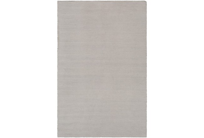 96X120 Outdoor Rug-Recycled Pet Herringbone Grey - 360