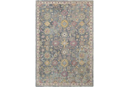 24X36 Rug-Centonze Traditional Blue And Lilac