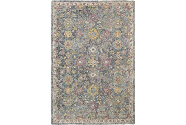 24X36 Rug-Centonze Traditional Blue And Lilac - 360