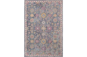 60X90 Rug-Centonze Traditional Blue And Lilac