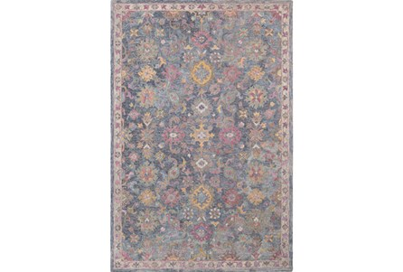 96X120 Rug-Centonze Traditional Blue And Lilac