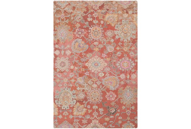60X90 Rug-Centonze Traditional Coral - 360