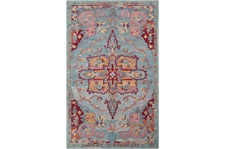 24X36 Rug-Centonze Traditional Red And Blue - Main