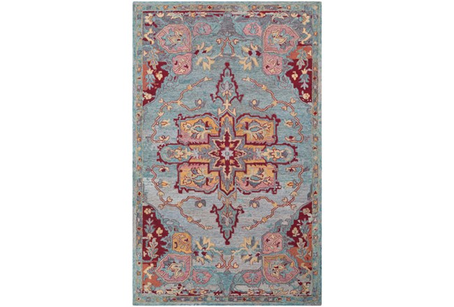 24X36 Rug-Centonze Traditional Red And Blue - 360